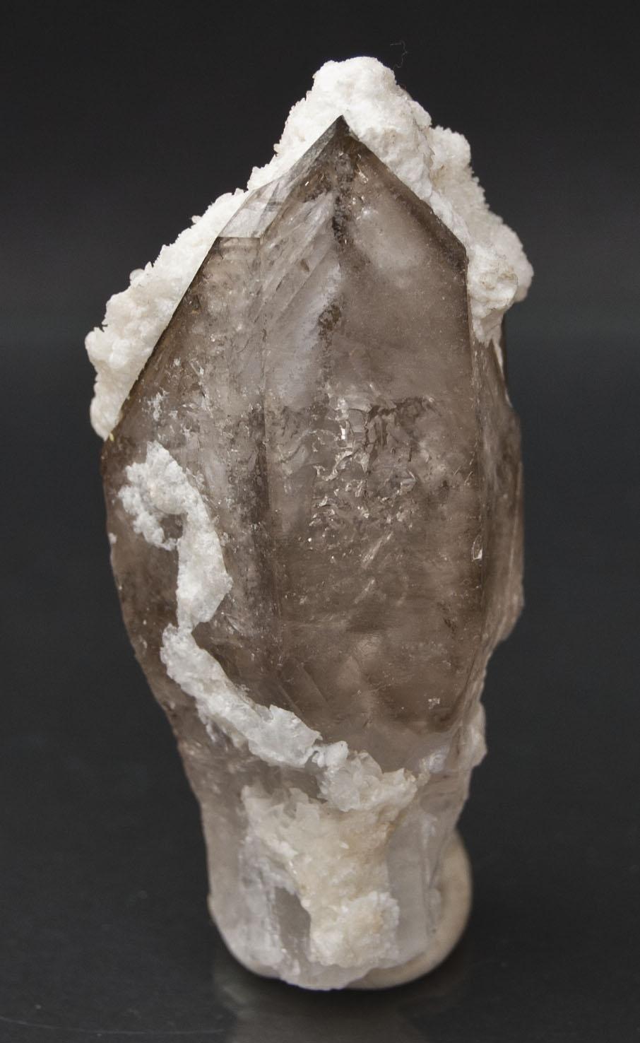 Brandberg Smokey Quartz, Calcite inclusions