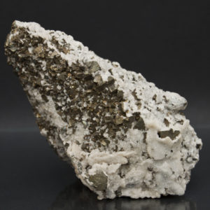 Pyrite, Quartz on large Calcite Crystal-https://schwartzfineminerals.com