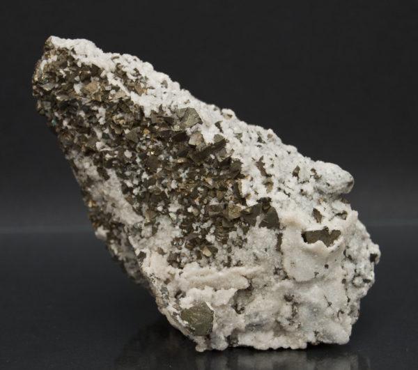 Pyrite, Quartz on large Calcite Crystal-https://schwartzfineminerals.com