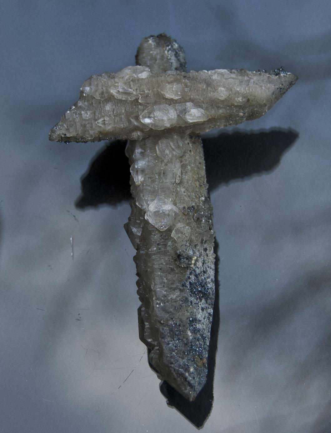 Quartz Cross with Sphalerite