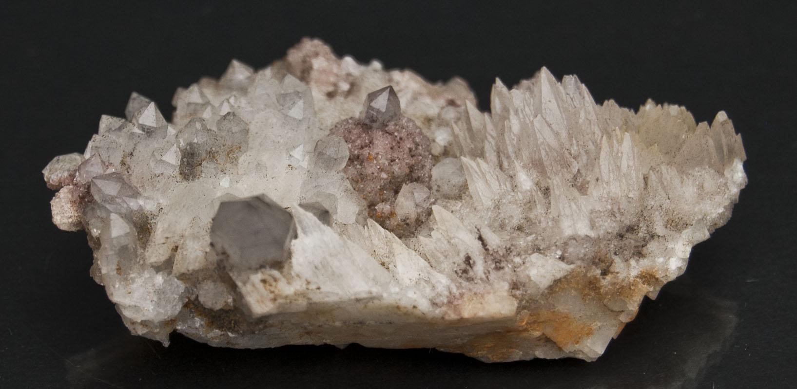 Rhodochrosite, Quartz And Calcite-https://schwartzfineminerals.com