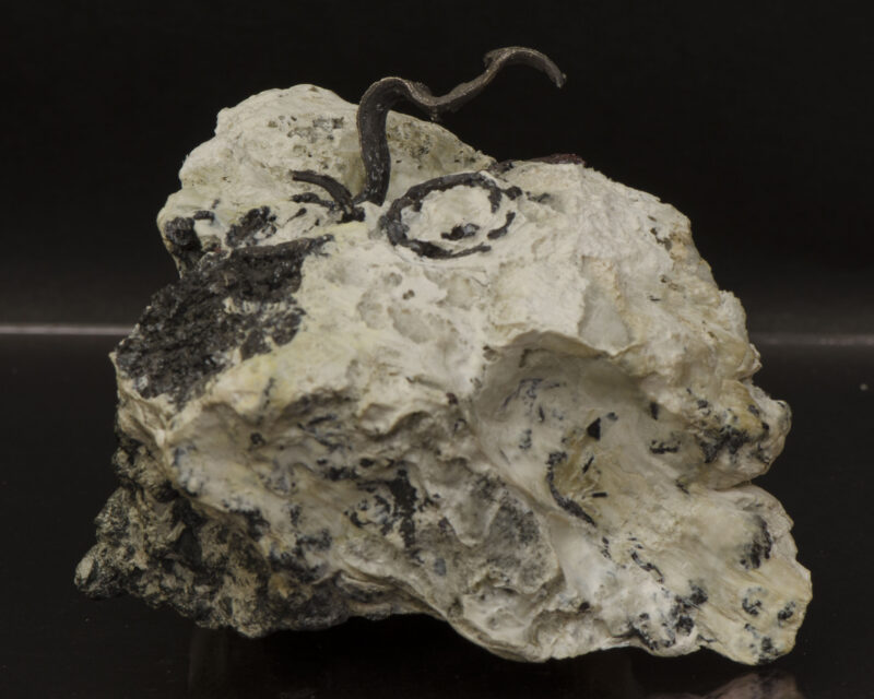 Silver, Proustite, Calcite, Imiter mine