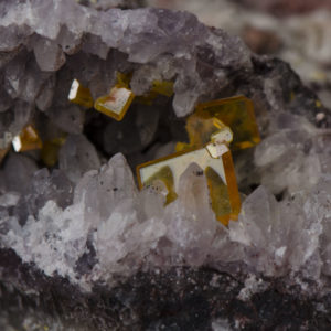 Wulfenite, Amethyst, Tiger Mine
