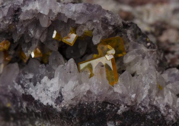 Wulfenite, Amethyst, Tiger Mine