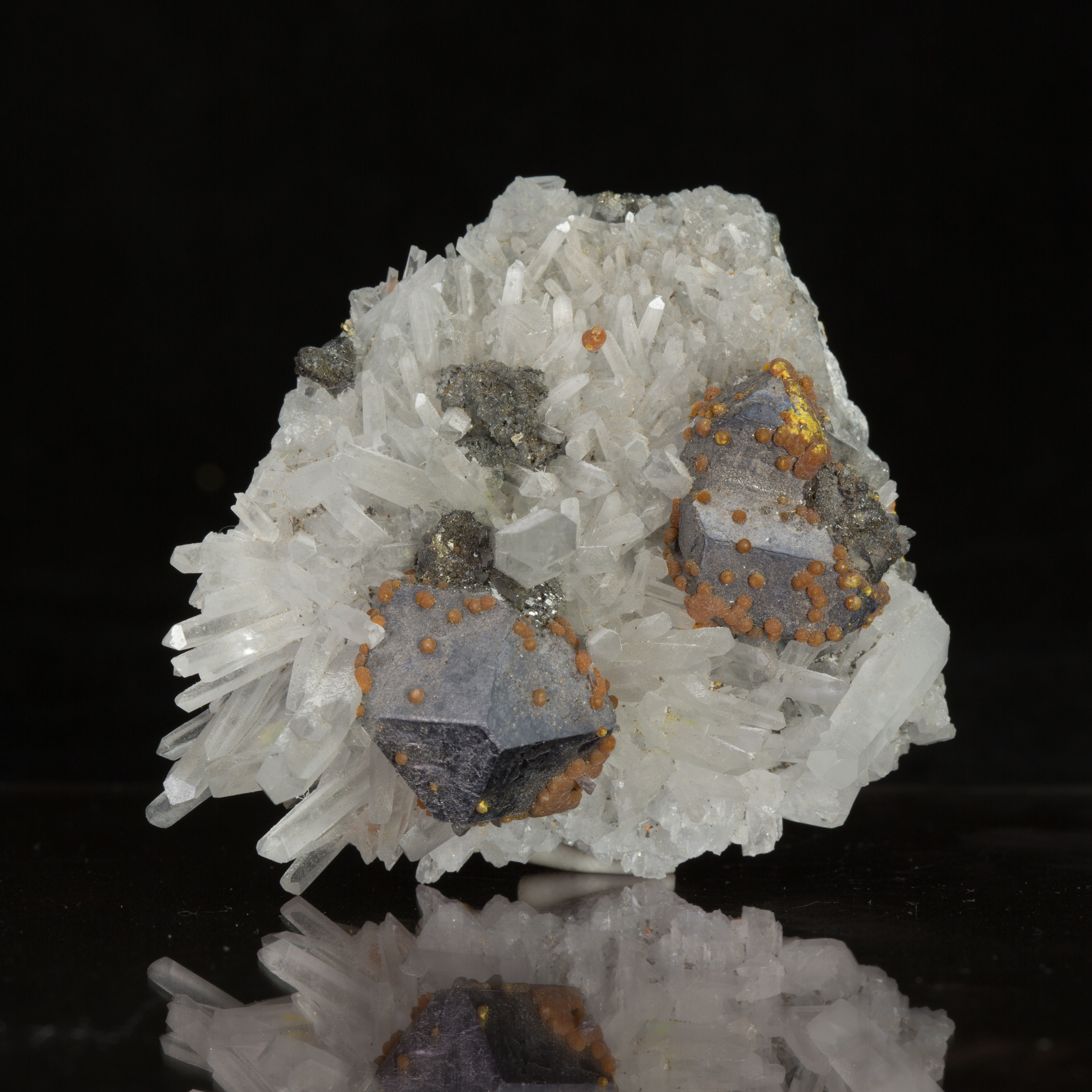 Quartz Galena Orpiment Pyrite combination