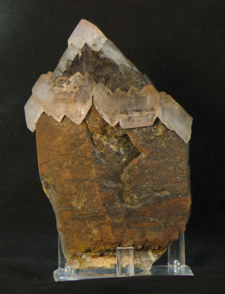 PF 11, Hematite coated amethyst point with secondary cap
